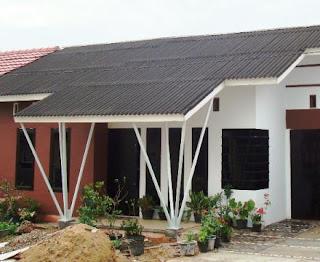 model rumah minimalis atap asbes