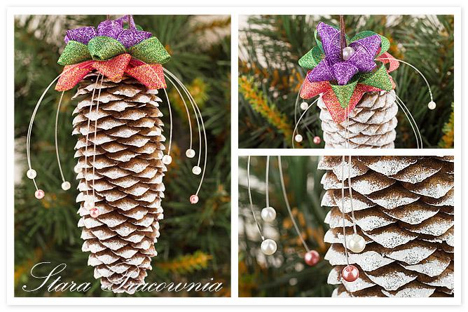 Ozdoba na Boże Narodzenie, Dekoracja z szyszki