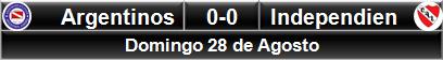 Argentinos 0-0 Independiente