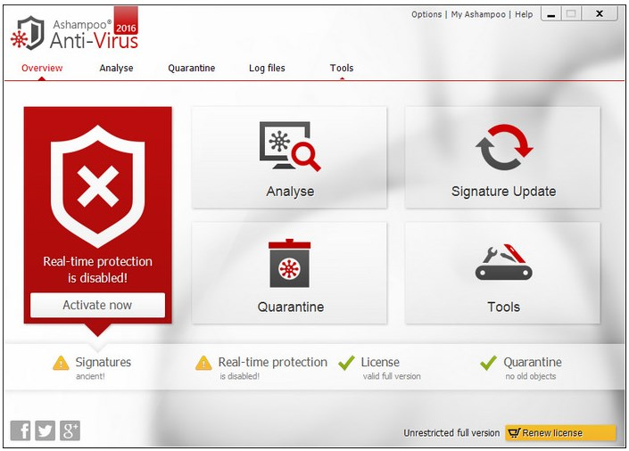 الكمبيوتر الفايروسات crack Ashampoo Anti-Virus 2016 v1.3.0 2016 Screenshot_23.jpg