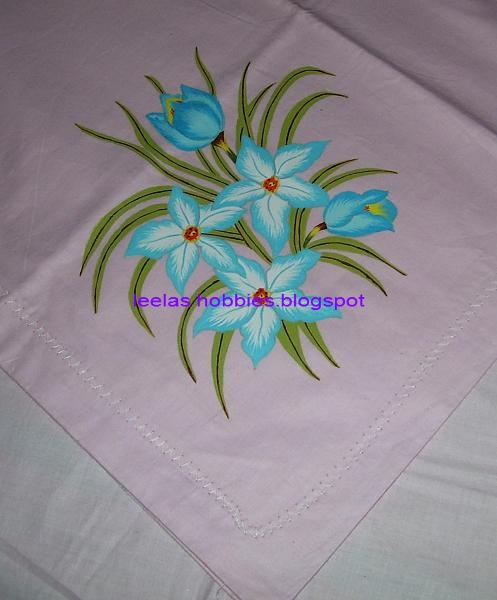 Fabric Painting Painted Bed Sheet