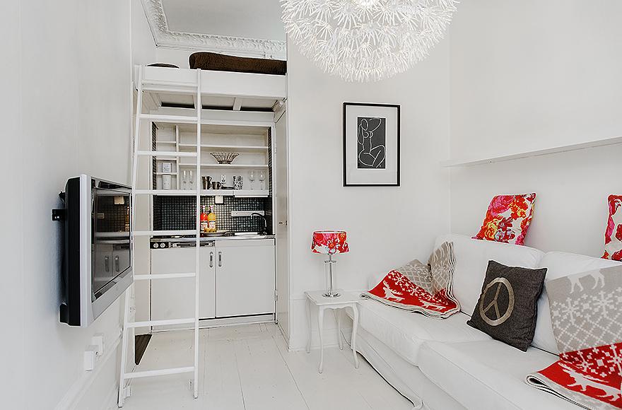 decoracao sala kitnet : decoracao sala kitnet:Blog Achados de Decoração: QUITINETE OUAPARTAMENTO FOFO DE 21 m2: é