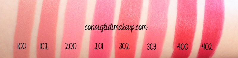 miss pupa velvet matt swatches