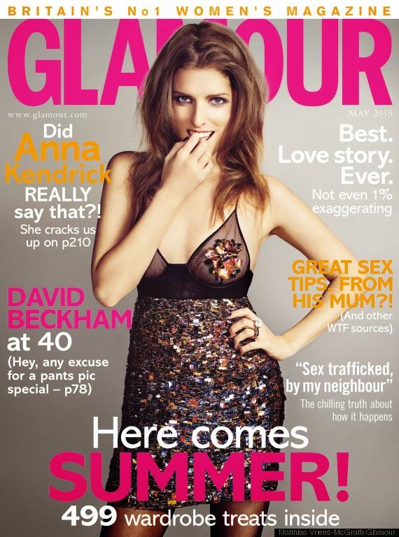 Actress @ Anna Kendrick - Glamour UK, May 2015