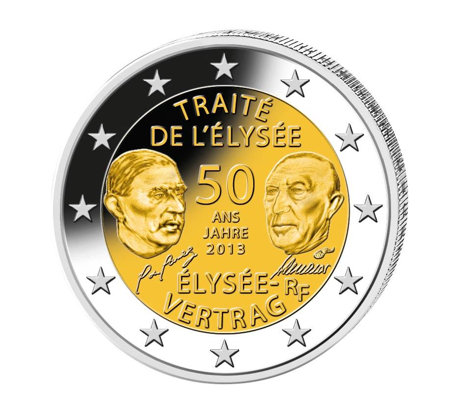 2 Euro Münze Wert Elysee Vertrag Ausreise Info