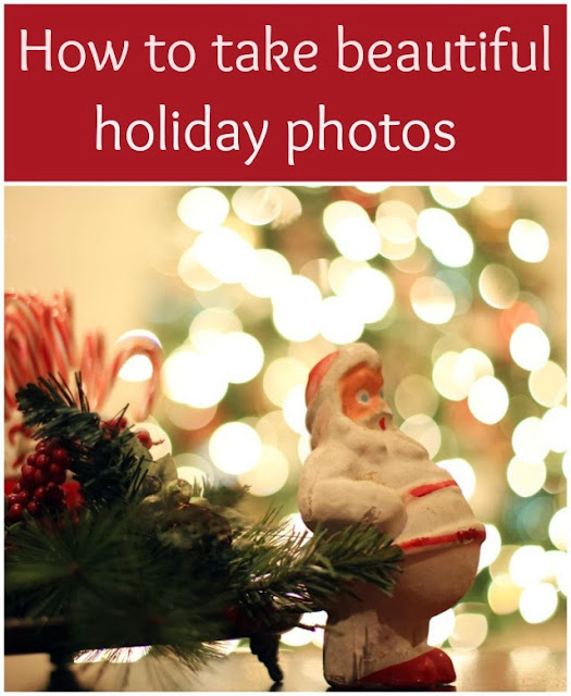Easy to understand Christmas bokeh tutorial showing you how to take beautiful holiday photos