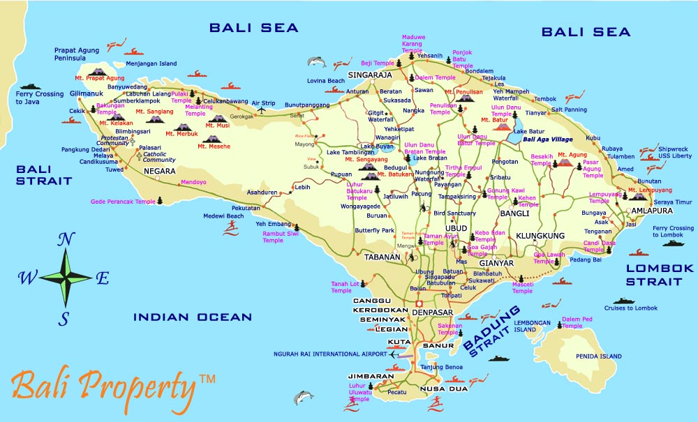 Bali Weather Forecast and Bali Map Info: Bali Island Street Map Detail ...