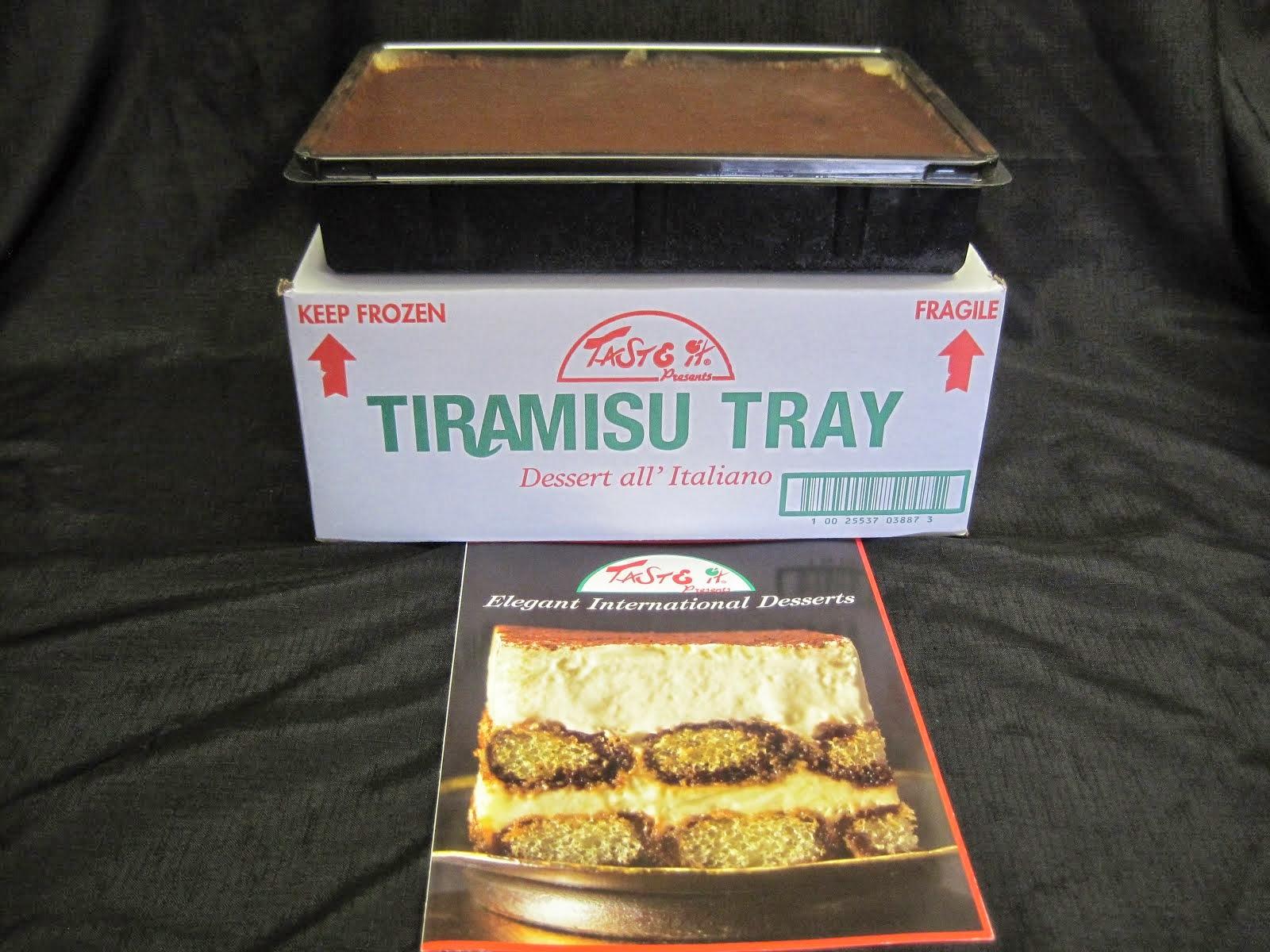 Tiramisu Dessert - item # 28200 and 28201 for single tray