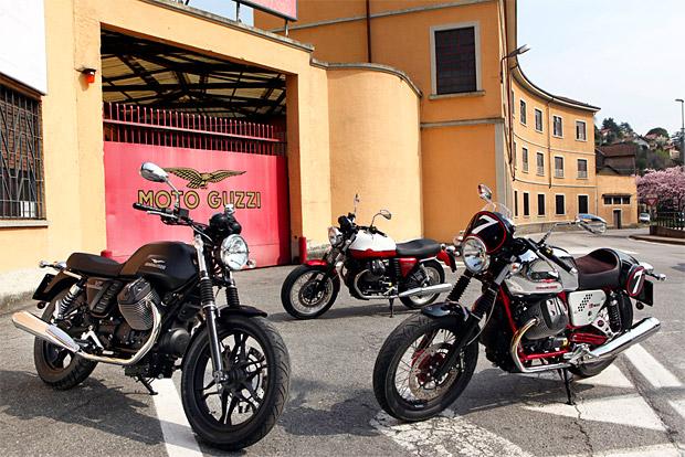 New Moto Guzzi V7 2013 Range [ 2013 Moto Guzzi V7 stone | 2013 Moto Guzzi V7 racer | 2013 Moto Guzzi V7 Special ]