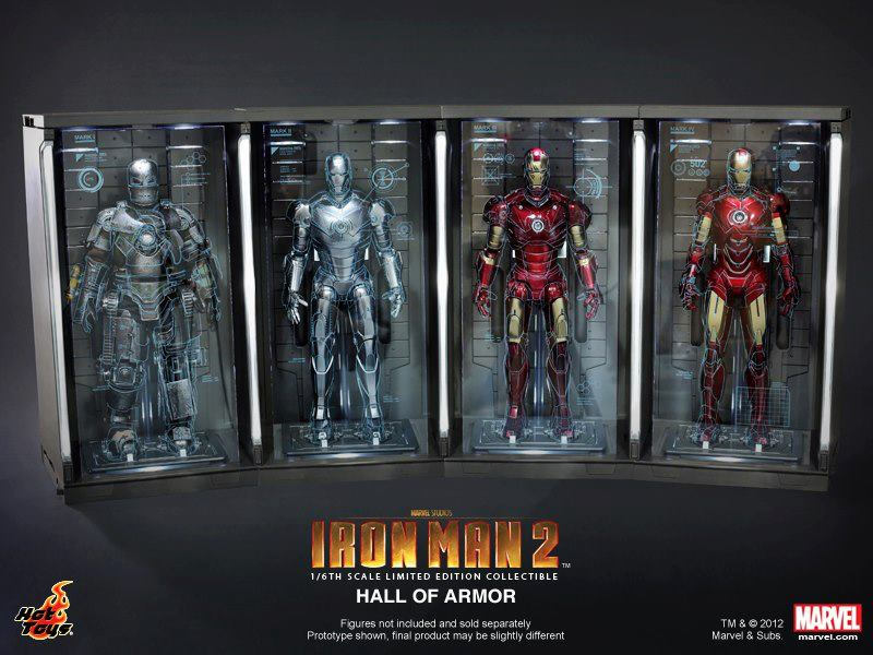 news hot toys announced 16th scale hall of armor collectible from iron man 2 bootleg iron man 2 starring