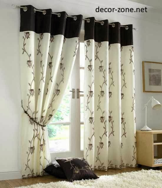 simple living room window curtains