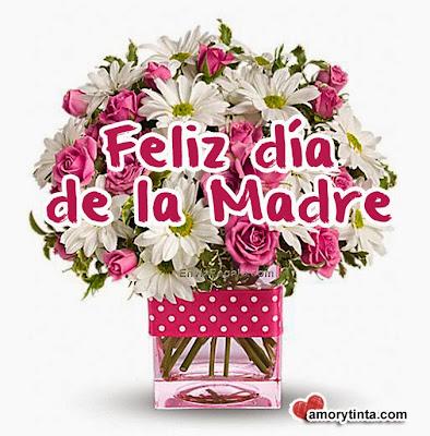 Flores rosadas para el día de la madre