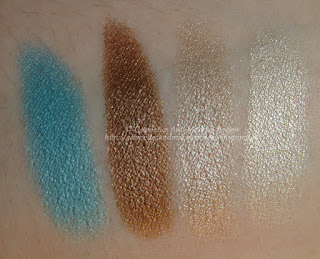 Pupa - Coral Island - Vamp! Compact Eyeshadow 001, 002, 003, 004 swatches