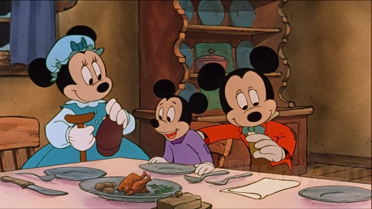 the feast is in the eye of the beholder - Mickey Mouse A Christmas Carol
