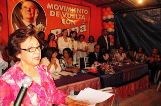 Doña Rosa Gómez de Mejía asegura Hipólito Mejía impulsará la inclusión equitativa de la mujer en los planes de desarrollo del país.