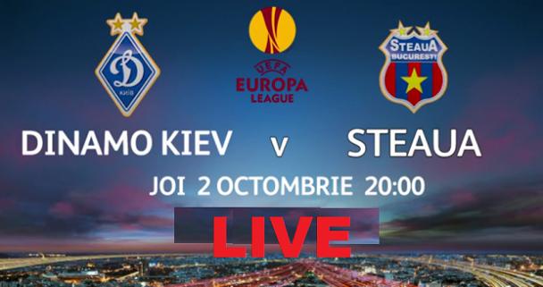 Dinamo Kiev Steaua live 2 octombrie 2014 Europa League