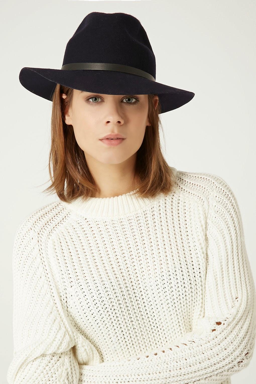 topshop fedora hat black,