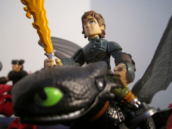 Hiccup and Toothless, close-up.