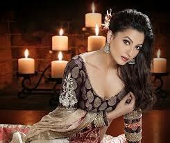 Gauhar Khan  looks lavishing in her black panty underwear