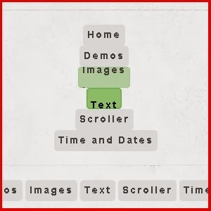 Rollover Text Menu