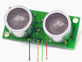 bentuk fisik dari sensor jarak srf04