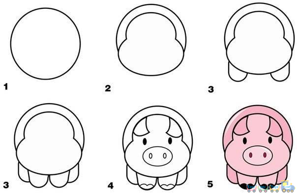 Drawing Yourself Simple Animal pig Pics