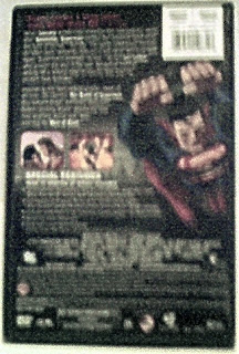 Back cover of Superman Doomsday DVD