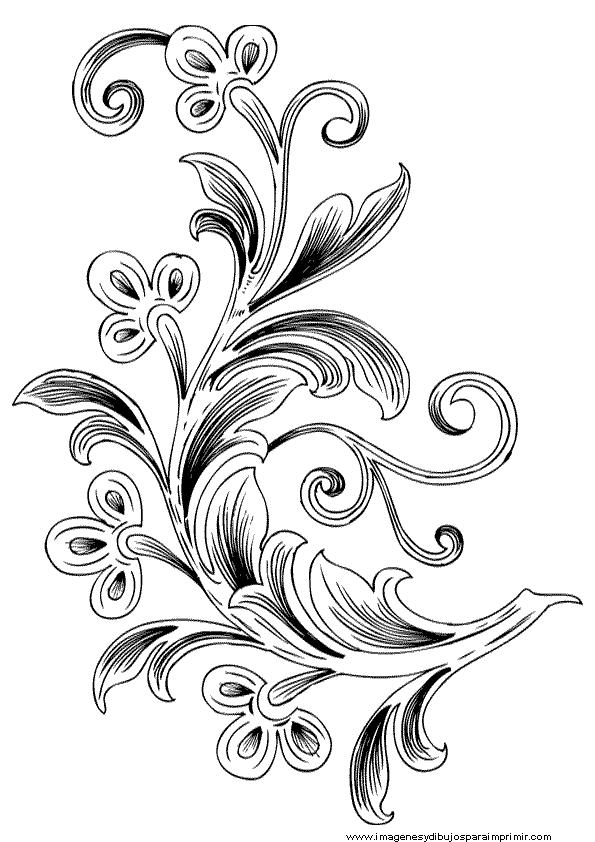 Dibujos De Flores Blanco Y Negro