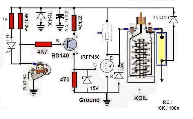 tci   transistor control ignition   membuat sendiri tci