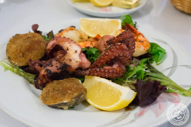 image of misto mare octopus, shrimp and baked clams at Il Colosseo in Bensonhurst, Brooklyn, New York