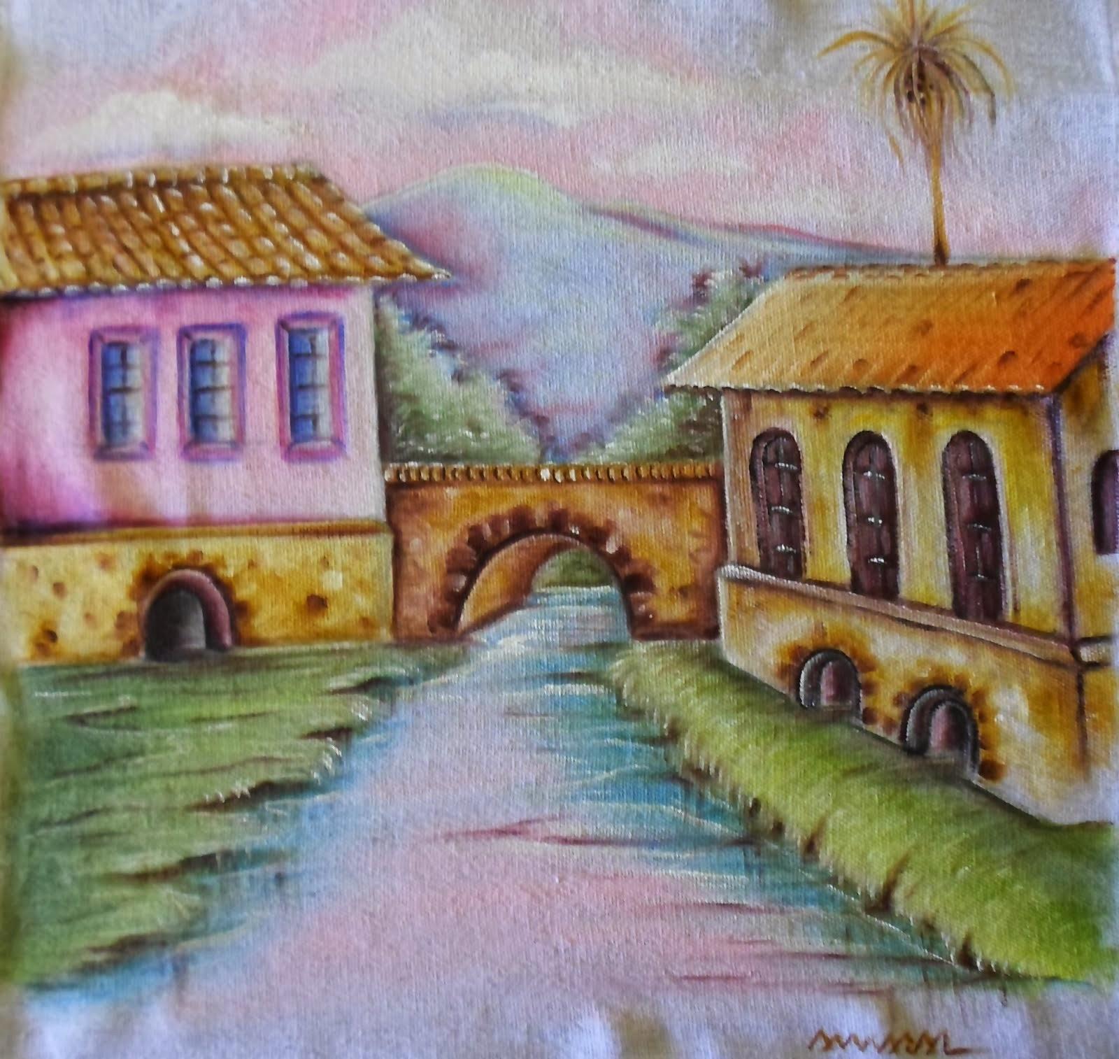 Casas com Rio e Ponte
