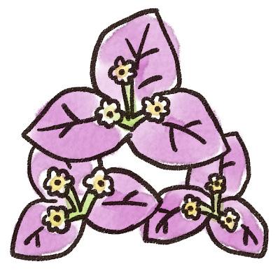 ブーゲンビリアのイラスト(花)