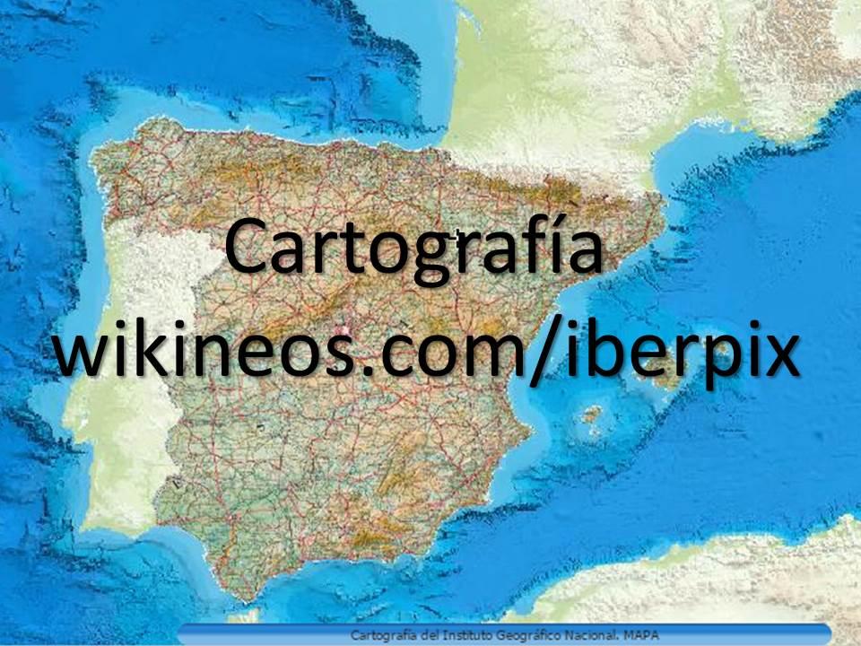 Cartografía Wikineos/Iberpix
