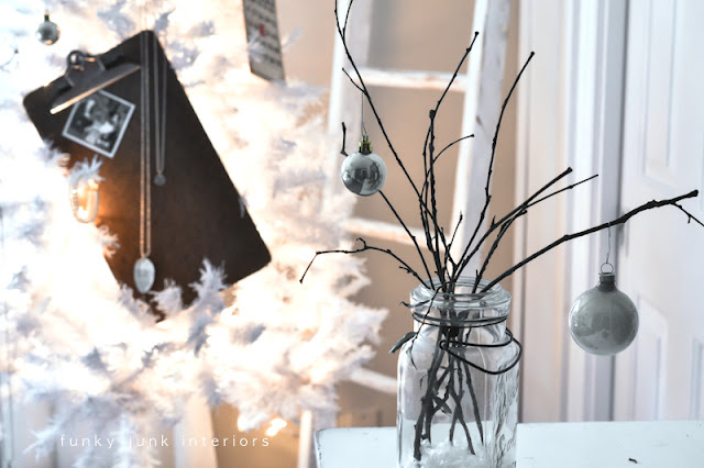 Little twig tree in a mason jar, via Funky Junk Interiors