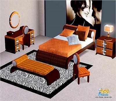 7 Pieces * 1 Double Bed * 1 Chair * 2 Tables * * 1 Desk * 1 Light * 1 De