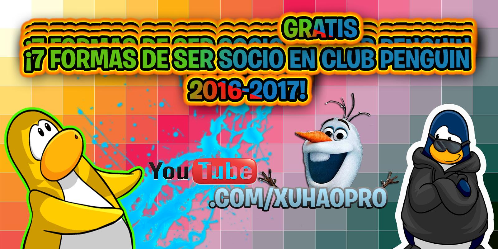 ¡Membresias gratis 2016 Club Penguin!