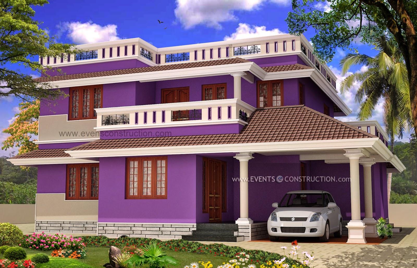 1995 Sq Feet 4 Bedroom Kerala House Exterior Home