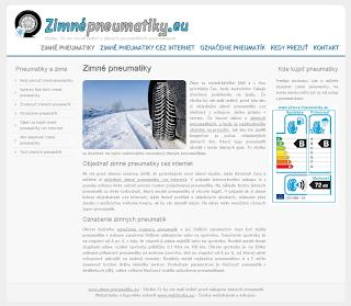 Zimné pneumatiky  web stránka