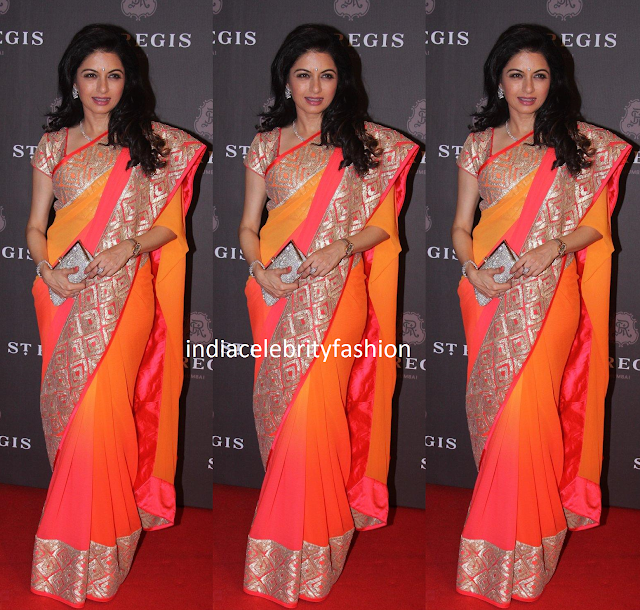 Bhagya shree in designer chiffon saree