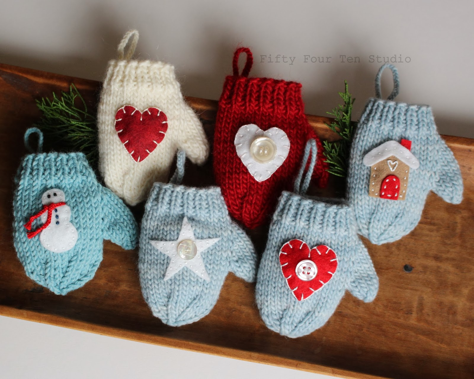 Fifty Four Ten Studio: Time to Knit Christmas Ornament Presents for ...