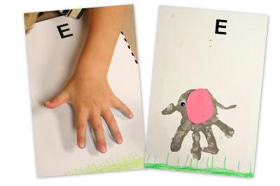 letter e for elephant