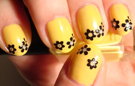 Nail Art Designs Yellow And Orange To Bend Light
