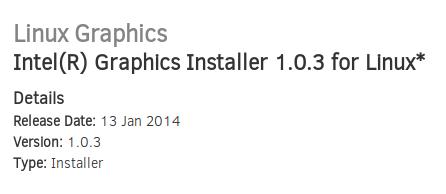 Instalar los controladores gráficos de Intel en Ubuntu 13.10, drivers intel gráfica ubuntu 13.10