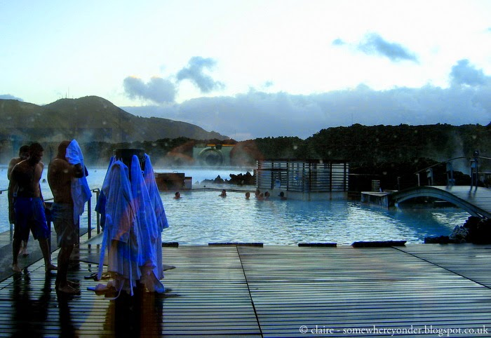 Iceland's famous Blue Lagoon - a geothermal spa just outside of Reykjavik