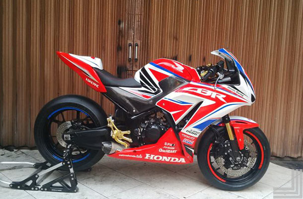 Top modifikasi honda cbr150r lokal