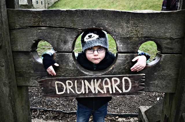 stocks, drunkard