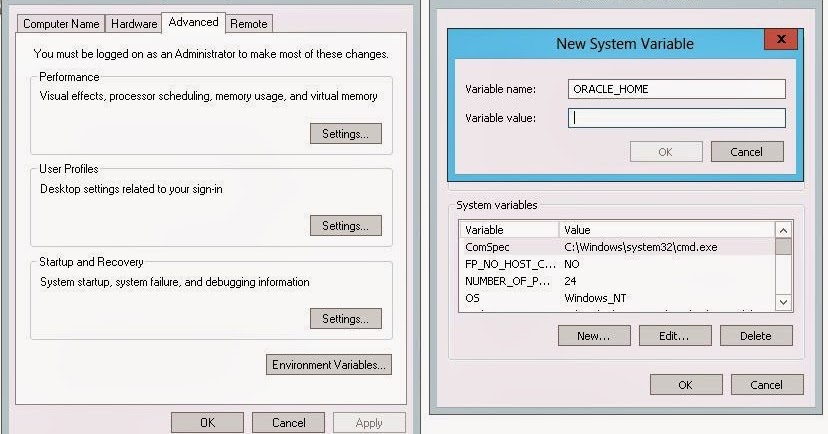 Oracle Home Environment Variable Windows