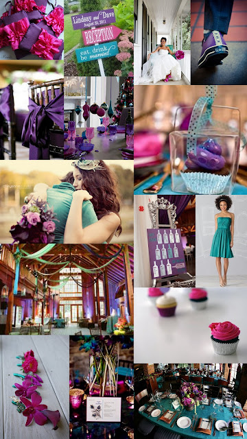 Magenta Teal and Plum Wedding Inspiration Board 1 Murwati 2
