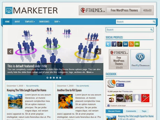 Marketer - Free Wordpress Theme