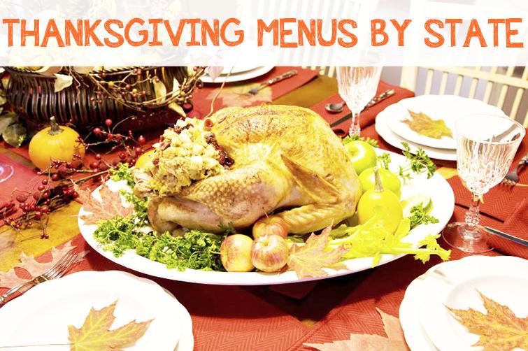 thanksgiving menus by state
